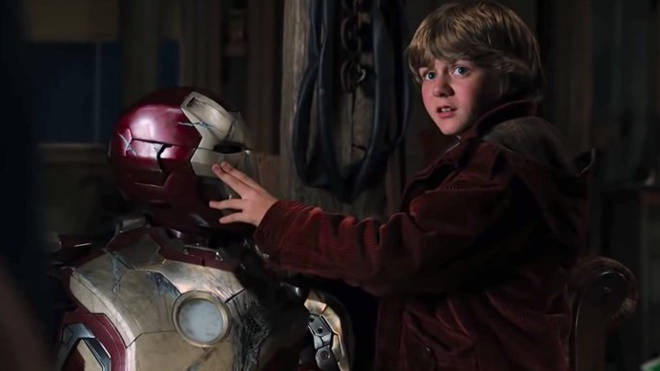 Harley Keener helps Tony Stark in Iron Man 3