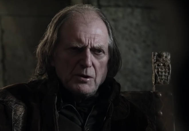 Walder Frey, who killed Arya's mother Caitlyn and brother Robb at the Red Wedding, has brown eyes