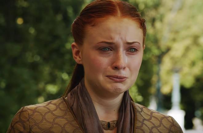 Arya's sister Sansa has blue eyes