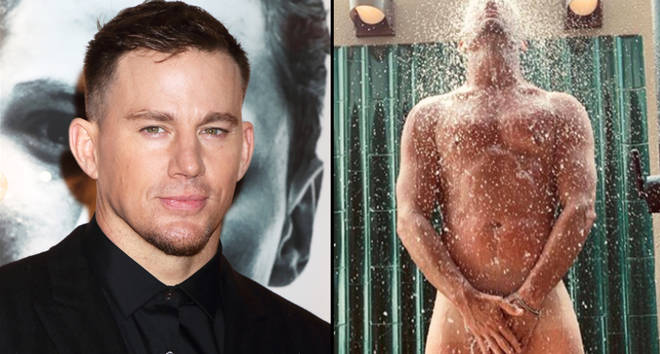 Channing Tatum in the shower.