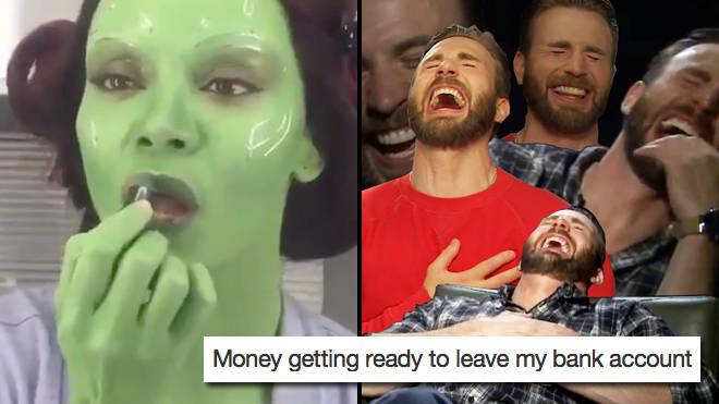 Avengers Endgame: The best Gamora green makeup memes - PopBuzz