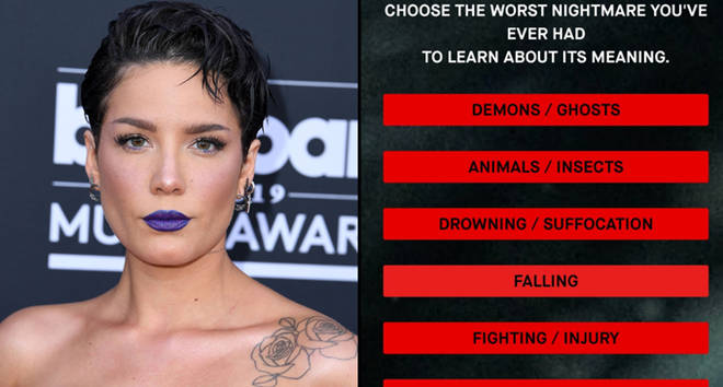 Halsey arrives at the Billboard Music Awards/the nightmare website.