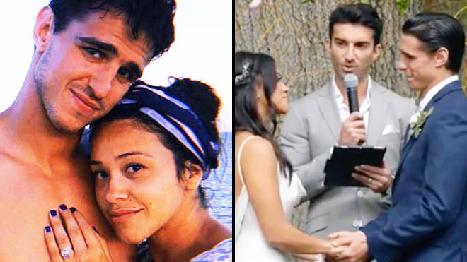 Gina Rodriguez just married her Jane the Virgin co-star Joe LoCicero and Justin Baldoni officiated the wedding - Video