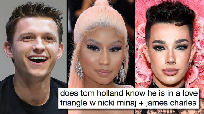 The best Tom Holland, Nicki Minaj and James Charles love triangle memes
