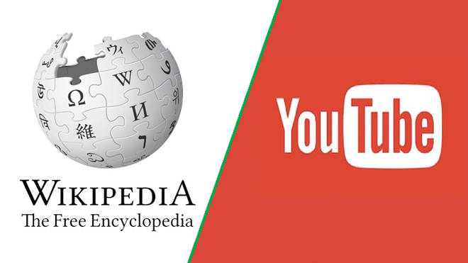 Wikipedia and YouTube logos