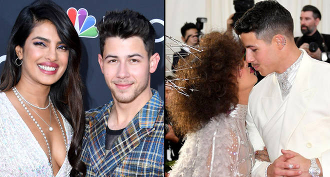 Priyanka Chopra and Nick Jonas attend The 2019 Met Gala Celebrating Camp: Notes on Fashion.