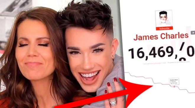 James Charles' subscriber count has dropped to 15m