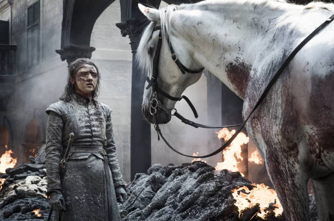 Arya Stark rode out of King's Landing on a white horse - so what does it mean?