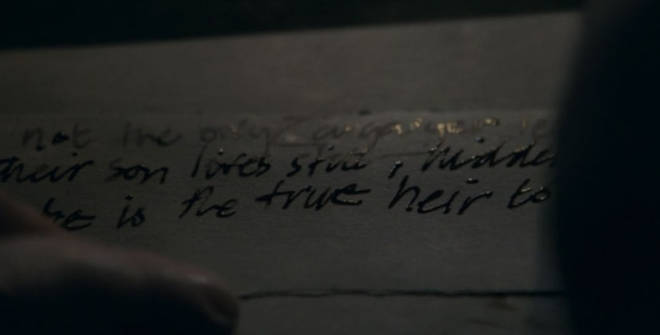"Vary&squot;s note in season 8, episode 5, spoke about Jon Snow being the ""true heir"""