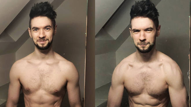 JackSepticEye shirtless
