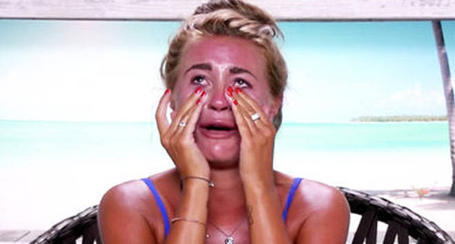 Dani Dyer crying in Love Island 2018.
