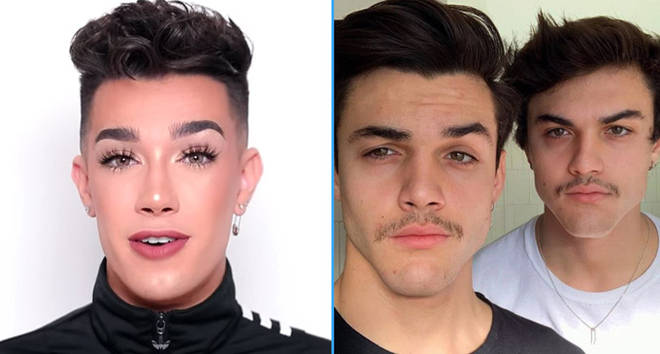 James Charles YouTube/Dolan Twins selfie