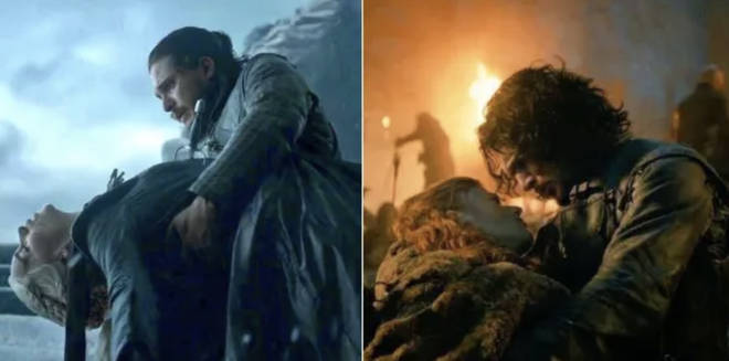 Both Dany and Ygritte died in Jon Snow's arms