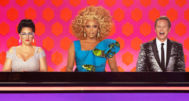 Michelle Visage, RuPaul Charles and Carson Kressley on Drag Race.