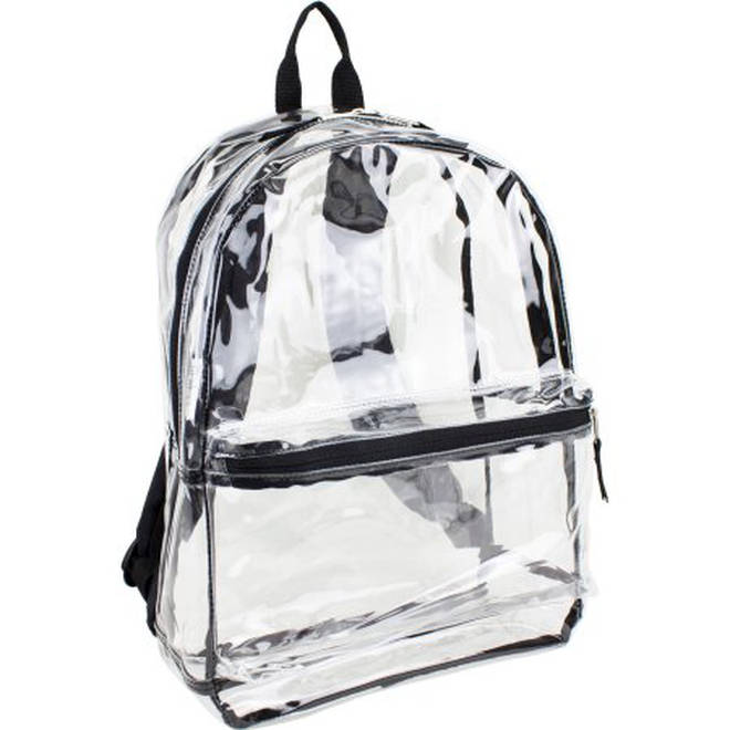 Students would carry their materials in see-through backpacks like these.  Picture  Eastpack Backpacks 45a4801b64dc2