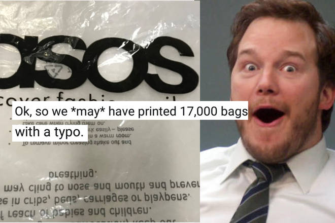 ASOS Spelling error