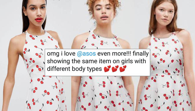 ASOS different sizes