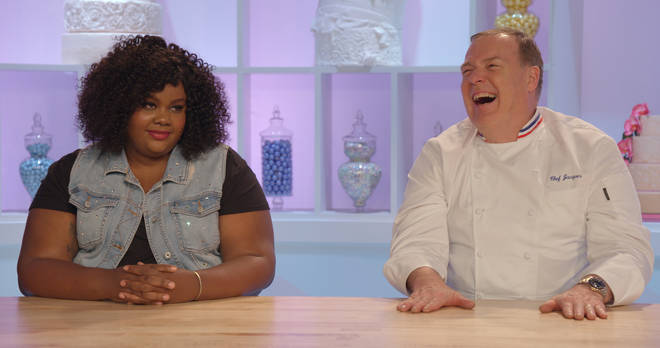 Nicole Byer and Jacques Torres on Netflix's Nailed It