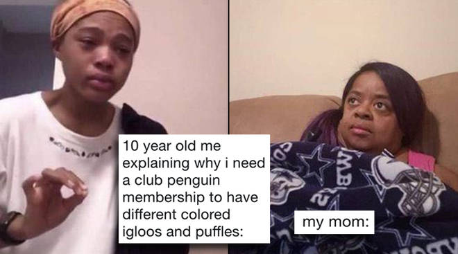 "The ""me telling my mom"" meme has gone viral on Twitter"