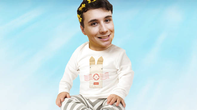 Dan Howell as a baby
