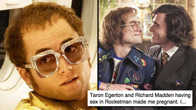 The gay sex scene in Rocketman has inspired the wildest Taron Egerton and Richard Madden thirst tweets