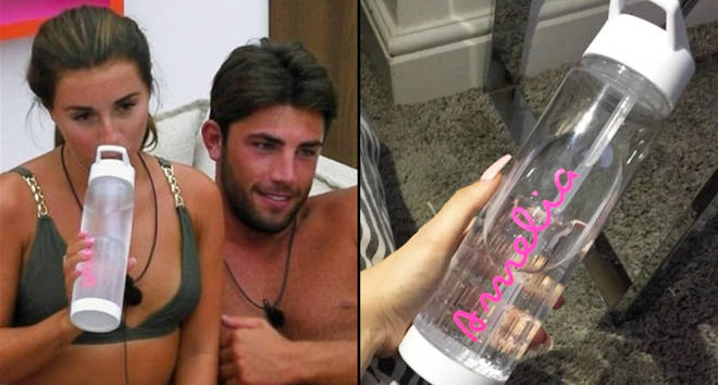 Dani Dyer and Jack Fincham/Love Island bottle.