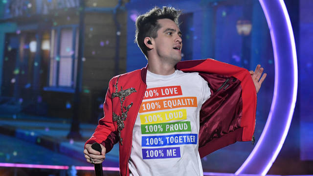 e2bb7f788 Brendon Urie celebrated pride with the most iconic t-shirt at Wango Tango