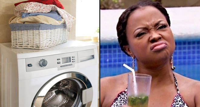 White washing machine in the bathroom/Phaedra Parks