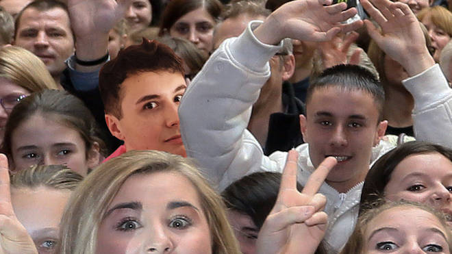 Dan in a crowd