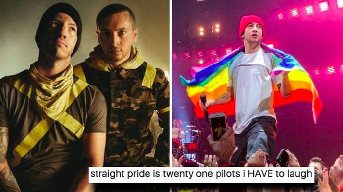 """Twenty One Pilots have been labelled a """"straight pride"""" band and fans have thoughts"""