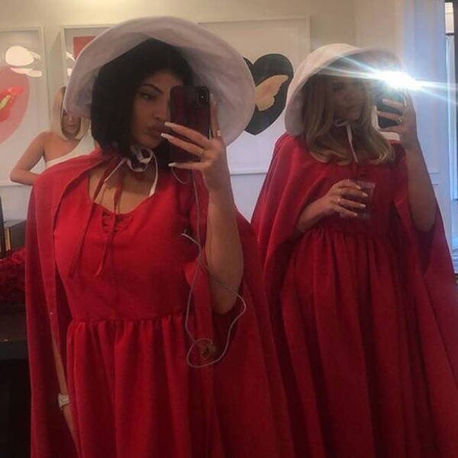 Kylie Jenner Handmaid's Tale party
