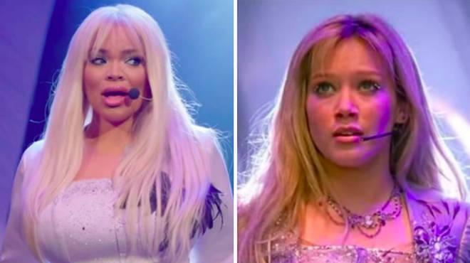 Trisha Paytas / Hilary Duff in The Lizzie McGuire Movie