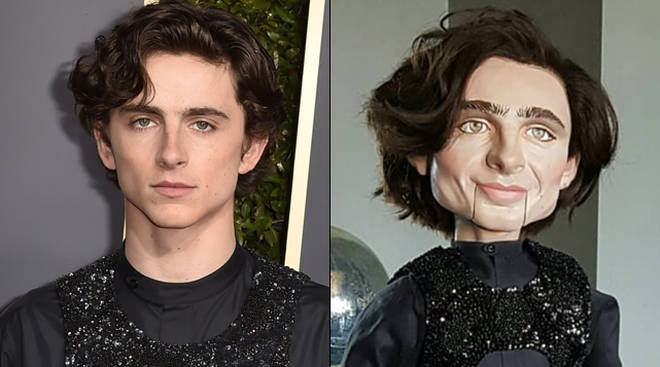 This Timothée Chalamet ventriloquist doll