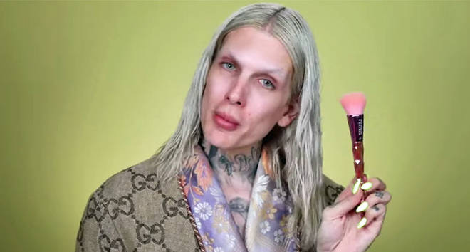 Jeffree Star 'Can This $20.00 Foundation Cover My Sadness? Let's Find Out...' video.