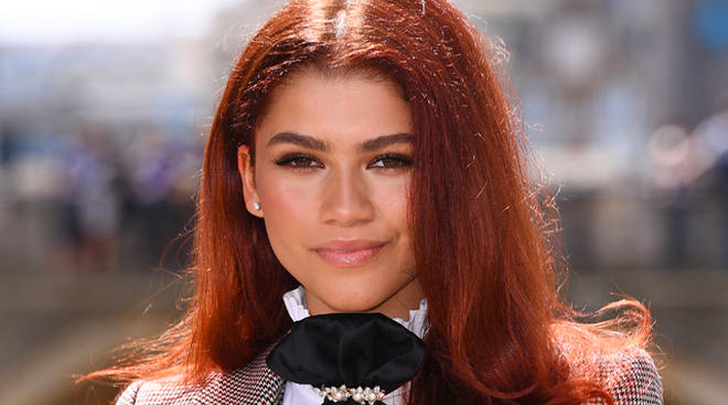 Zendaya shows off her new red hair in London for Spider-Man: Far From Home press