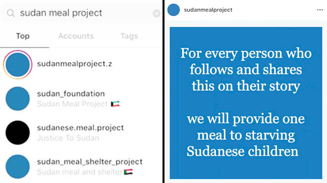 Blue for Sudan is being exploited by Instagram users to gain more followers