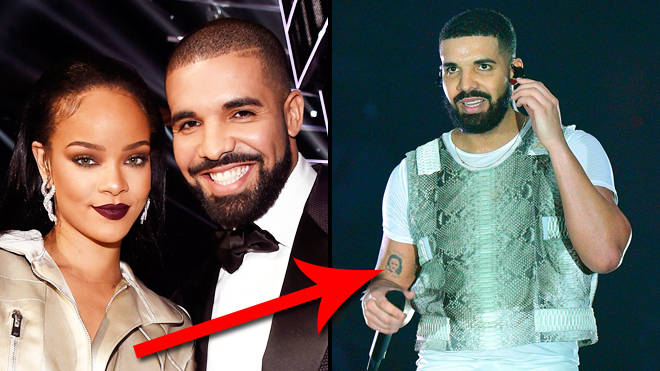 Does Drake have a Rihanna tattoo or is Robin Givens on his arm?
