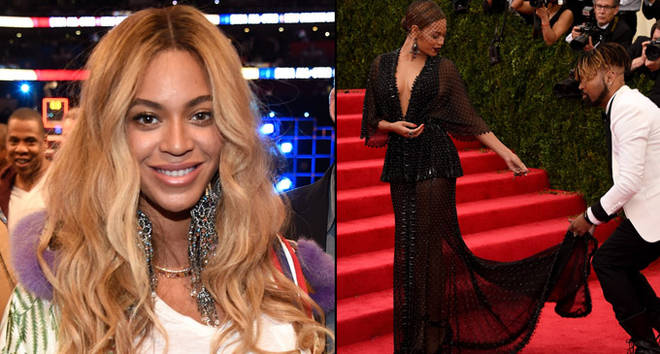 Beyonce Knowles attends the 66th NBA All-Star Game.