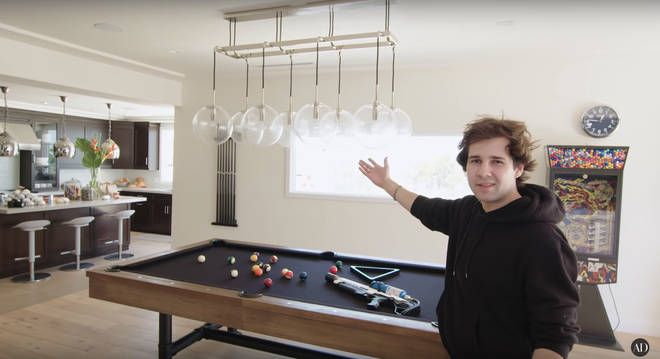 David Dobrik house tour AD