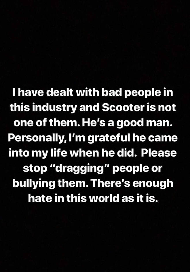 Demi Lovato defends Scooter Braun