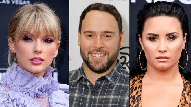 Taylor Swift, Scooter Braun, Demi Lovato