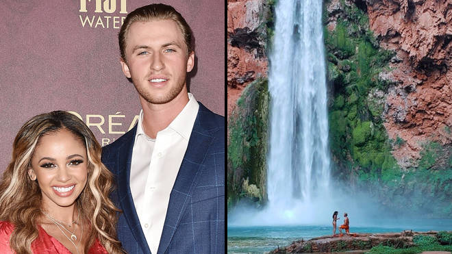 Riverdale's Vanessa Morgan and Michael Kopech get engaged at Mooney Falls