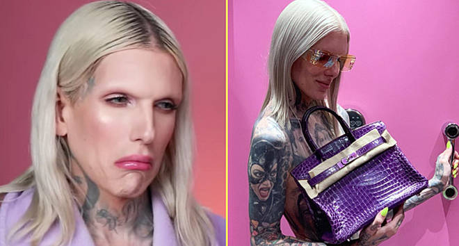 Jeffree Star and his Hermes Birkin.