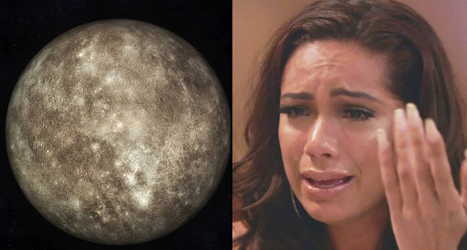 This is a 3d render of mercury in what It would look like in colour/Erica Mena crying.