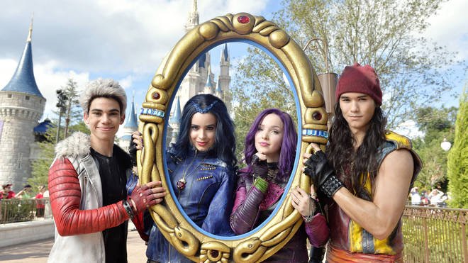 Cameron Boyce, Sofia Carson, Dove Cameron and Booboo Stewart at Walt Disney World Resort