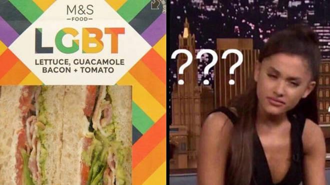 M&S LGBT Sandwich / Ariana Grande reaction image