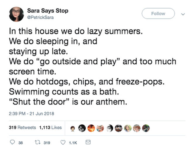 Swimming counts as a bath Twitter response