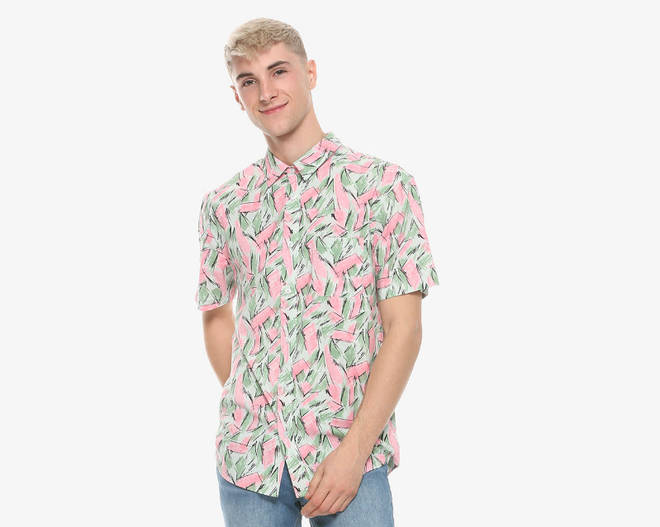 Hot Topic Stranger Things Hopper woven button down