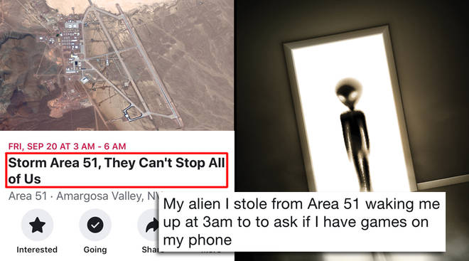 Area 51 memes are going viral thanks to a viral 'Storm Area 51