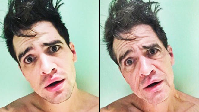 FaceApp age challenge: Brendon Urie old filter